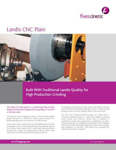 CNC Plain and Angle Grinders