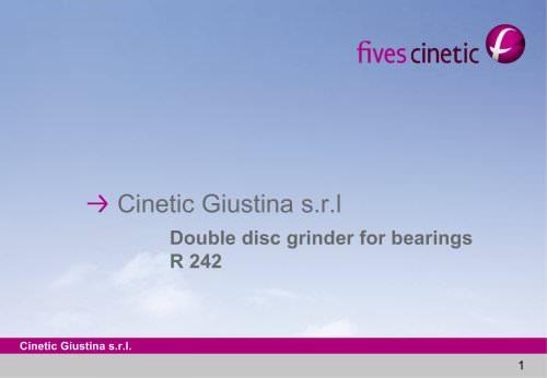 Double Disc Grinders > Giustina R242