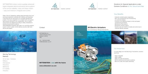 All Electric Actuators for extreme requirements