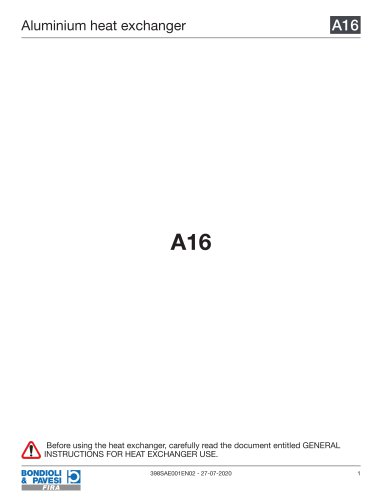Aluminium Heat Exchanger | A16