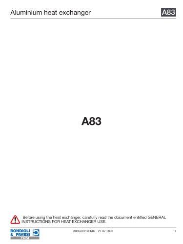 Aluminium Heat Exchanger | A83