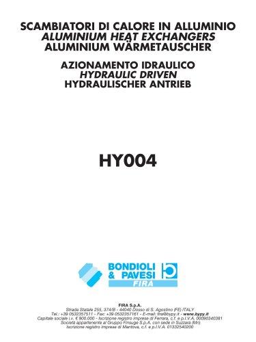 Aluminium Wärmetauscher / Hydraulischer Antrieb