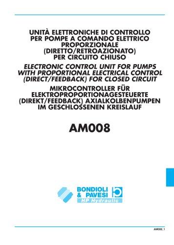 Mikrocontroller für Elektroproportionagesteurte (Direkt/Feedback) Axialkolbenpumpen im Gescholssenen Kreislauf
