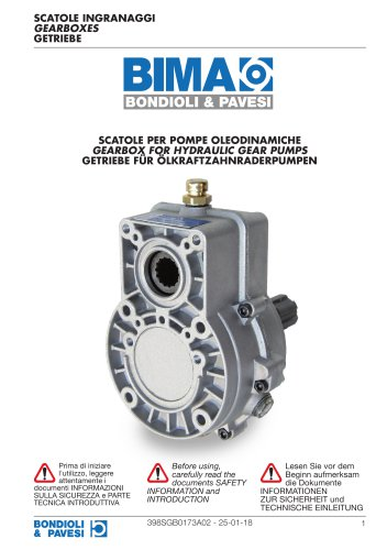 Parallel shaft Gearboxes - For Hydraulic Gear Pumps