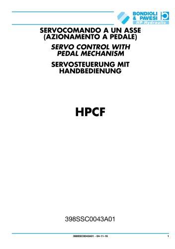 Servosteuerung mit handbedienung - HPCF