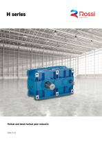 Helical and bevel healical gear reducers catalg H