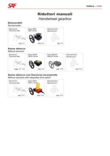Handweel Gearbox