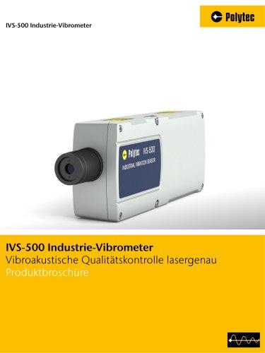 Broschüre IVS-500 Industrie-Vibrometer | Akustische Qualitätskontrolle durch Schwingungsmessung