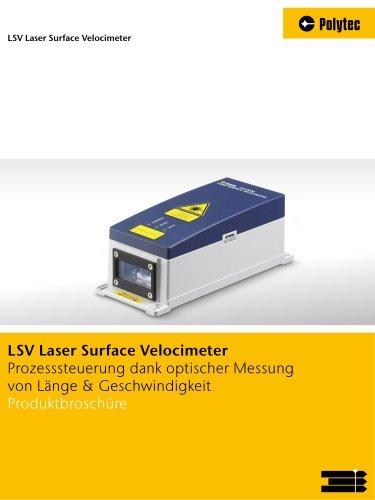Broschüre LSV Laser Surface Velocimeter | Fertigungsmesstechnik für Längen- und Geschwindigkeitsmessung