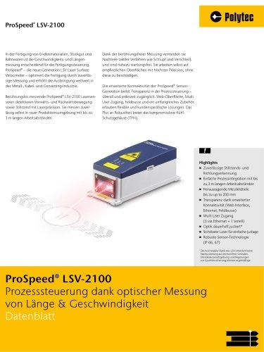 Datenblatt ProSpeed LSV | Die nächste Generation der Längen- & Geschwingdikeitsmessung
