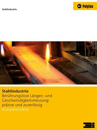 Lösungen für die Stahlindustrie | Länge und Geschwindigkeit messen