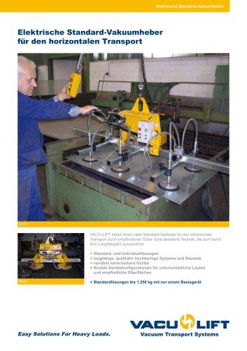 Elektrische Standard-Vakuumheber für den horizontalen Transport