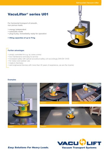 the self-suction VacuLifter® U01