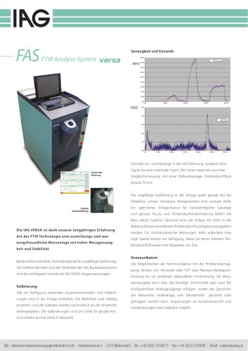 FAS FTIR-Analysesystem