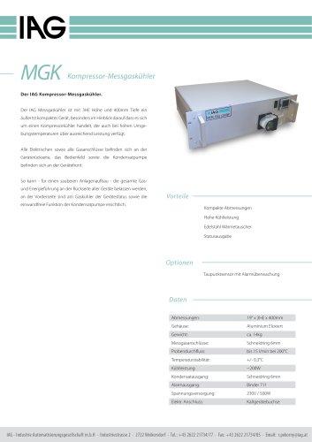 MGK-Kompressor Messgaskühler