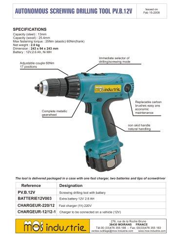 Autonomous screwing drilling tool - PV.B.12V