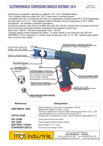 Electrohydraulic compressor cordless - SERTIMOS 120U