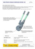 Hand operated hydraulic compressor - SERTIMOS 120C