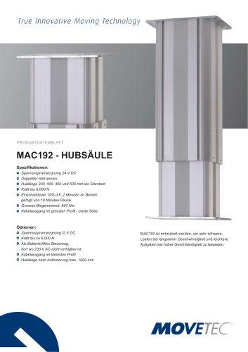Aluminium Hubsäule MAC 192