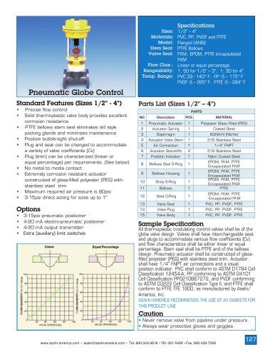 Globe Control Valve - Pneumatic