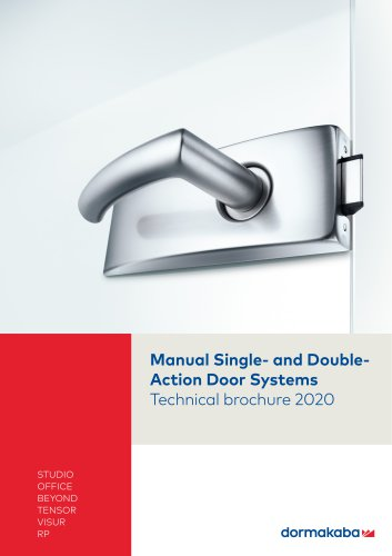 Manual Single- and DoubleAction Door Systems
