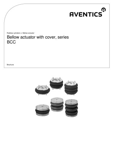 Bellow actuator with cover, series BCC