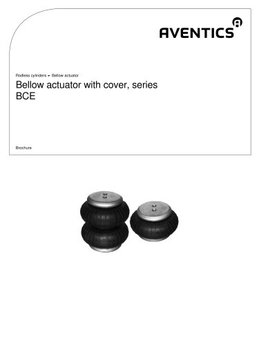 Bellow actuator with cover, series BCE