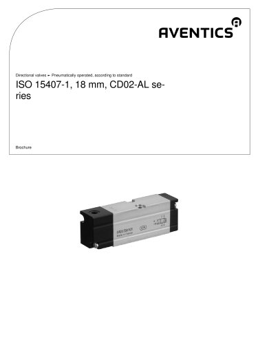 ISO 15407-1, 18 mm, Series CD02-AL pneumatically operated