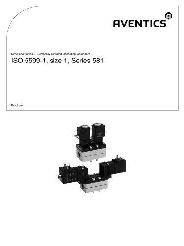 ISO 5599-1, size 1, Series 581 electrically operated