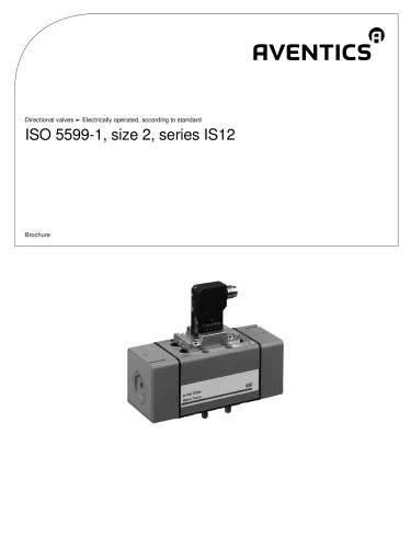 ISO 5599-1, size 2, Series IS12 electrically operated