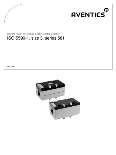 ISO 5599-1, size 3, series 581 pneumatically operated