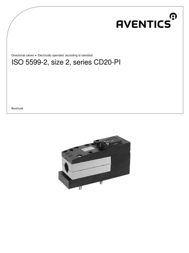ISO 5599-2, size 2, Series CD20-PI electrically operated
