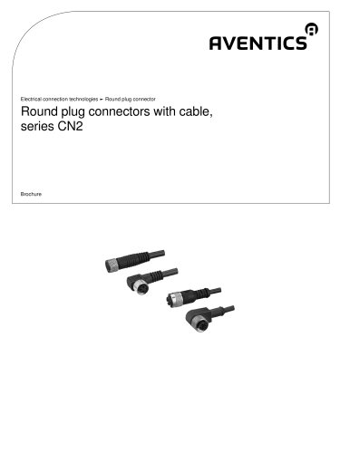 Round plug connectors with cable, series CN2
