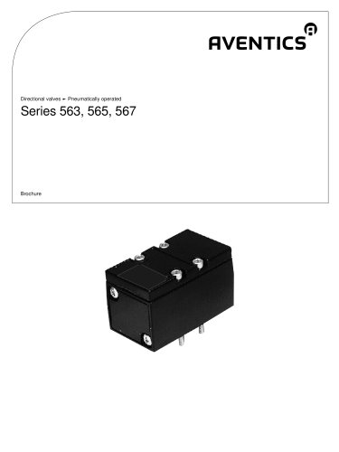 Series 563, 565, 567 pneumatically operated