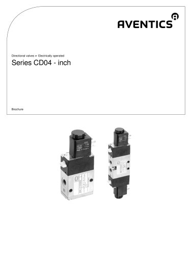 Series CD04 - inch electrically operated