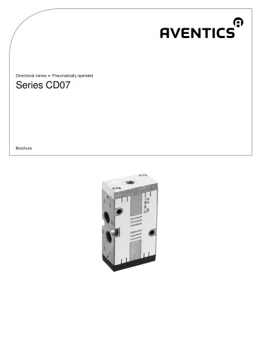 Series CD07 pneumatically operated