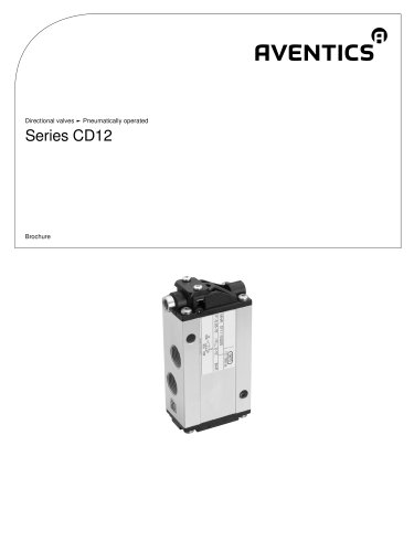Series CD12 pneumatically operated