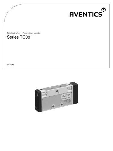 Series TC08 pneumatically operated