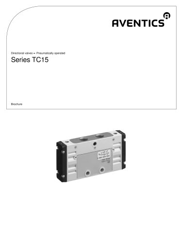Series TC15 pneumatically operated