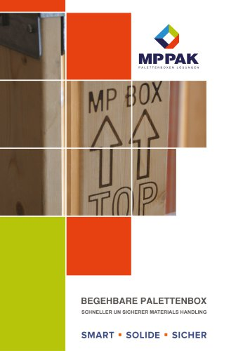 Begehbare Palettenbox -DEUTSCH