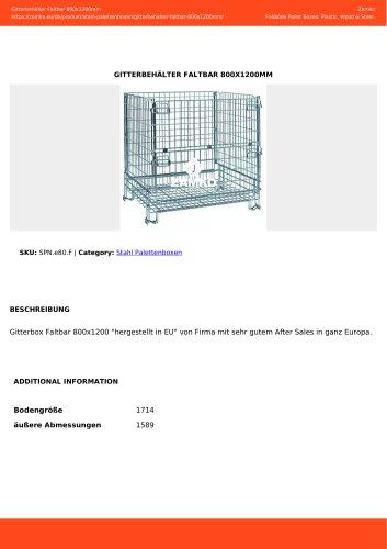 GITTERBEHÄLTER FALTBAR 800X1200MM