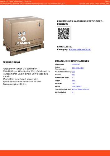 PALETTENBOX KARTON UN ZERTIFIZIERT - 800X1200