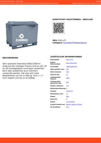 PLASTIC PALLET BOX - 800X1200 PAG e75