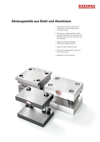 Säulengestelle aus Stahl und Aluminium