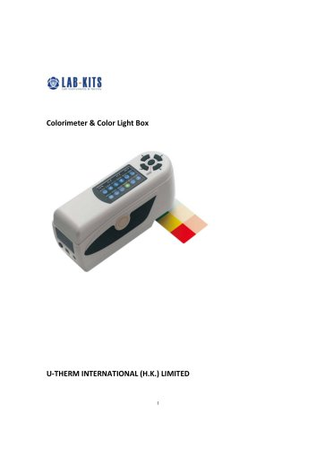 Colorimeter & Color Light Box