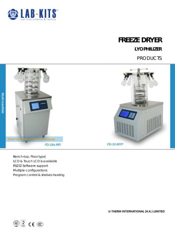 Laboratory Freeze Dryer (Lyophilizer) System (FD-Series) from LABFREEZ