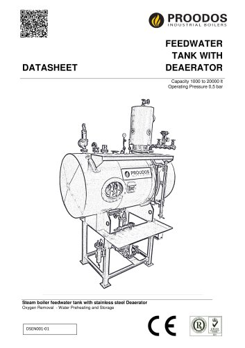 FEEDWATER  TANK WITH  DEAERATOR