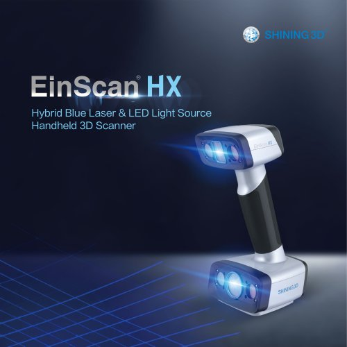 EinScan HX  Hybrid Blue Laser & LED Light 3D SCANNER / SHINING 3D