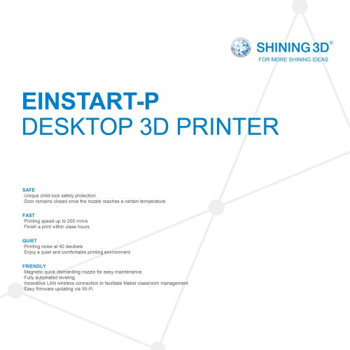 Einstart-P/SHINING 3D/DESKTOP 3D PRINTER