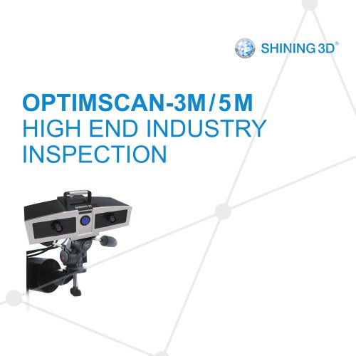 Optimscan 3M/5M//SHINING 3D/Metrology 3D Scanner/ High-Precision 3D Inspection Scanner